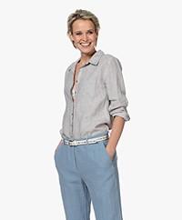 Belluna Biba Garment-dyed Linnen Blouse - Beige Mêlee