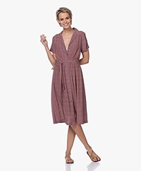 indi & cold Viscose Shirt Dress with Print - Terracota