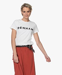 Denham Arrow Logo T-shirt - White/Black
