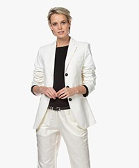 Repeat Stretch-cotton Tailored Blazer - Cream