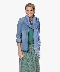 indi & cold Katoenen Sjaal - Blauw