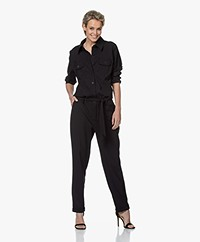Woman By Earn Bri Tech Jersey Boilersuit - Zwart