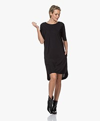 Woman By Earn Cara Tech Jersey Tunic Dress - Black