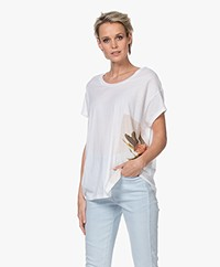 Closed Oversized T-shirt met Fotoprint - Wit