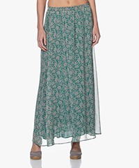by-bar Pleun Chiffon Print Maxi Rok - Evergreen