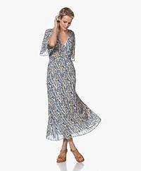 MKT Studio Roman Printed Maxi Dress - Vanille