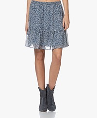 by-bar Charlie Flower Chiffon Rok - Indi Grey