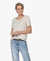 Repeat Jersey Lyocell Blend T-shirt - Desert