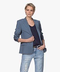 Filippa K Sasha Cool Wool Blazer - Blue Grey