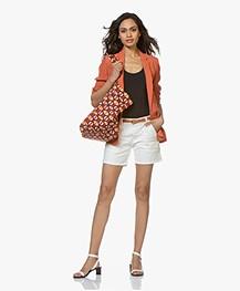 MKT Studio Veronica Viscose Crepe Blazer - Terracotta Orange