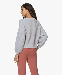 I Love Mr Mittens Katoenen Wafelsteek Sweater - Grijs