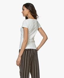 Josephine & Co Charl Katoenen T-shirt - Off-white