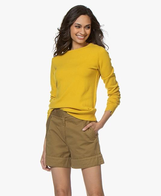 extreme cashmere N°41 Body Basic Cashmere Trui - Sunflower