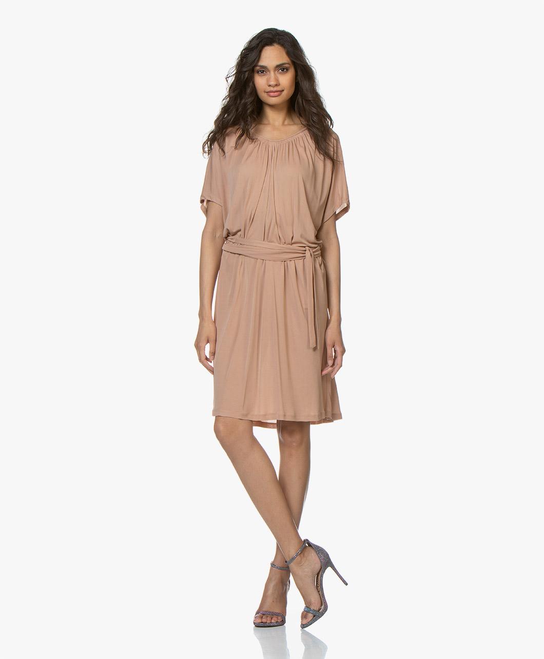 9dd00e3c241 Vanessa Bruno Dress - Nude Loubna Crepe Jersey - loubna | 9evb08-v08021 402
