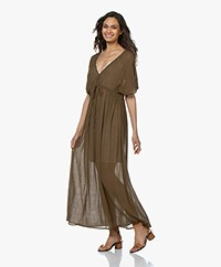by-bar Crepe Maxi Dress - Earth