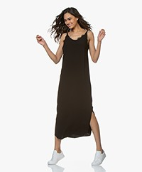 ba&sh Yoyo Viscose Crepe Midi Dress - Black