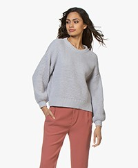 I Love Mr Mittens Cotton Waffle Stitch Sweater - Grey