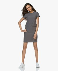 James Perse Jersey T-shirt Jurk - Charcoal