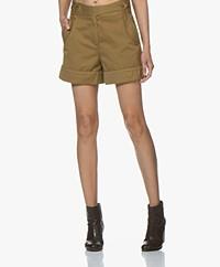 Rag & Bone Mandy Wide Leg Shorts - Moss