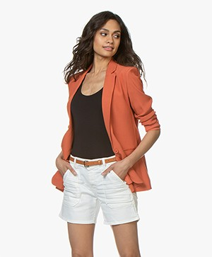 MKT Studio Veronica Viscose Crepe Blazer - Terracotta Orange