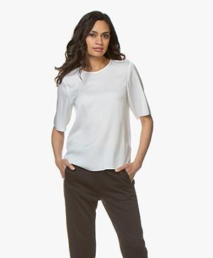 Filippa K Zijden T-shirt - Wit