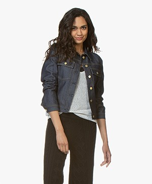 Filippa K Suzy Raw Denim Jacket - Dark Blue