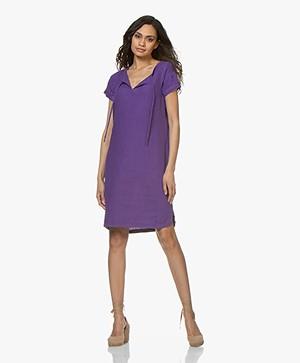 Josephine & Co Carly Linen Tunic Dress - Purple