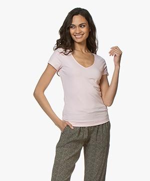 Josephine & Co Charl Katoenen T-shirt - Lichtroze