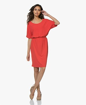 no man's land Knee-length Crepe-jersey Dress - Red