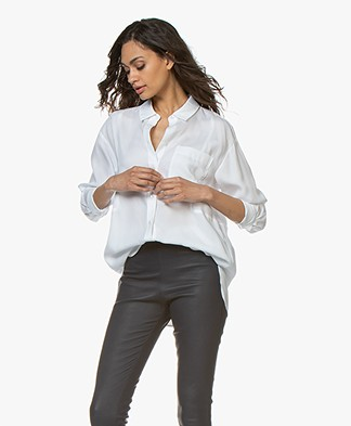 Repeat Tencel Twill Blouse - Wit