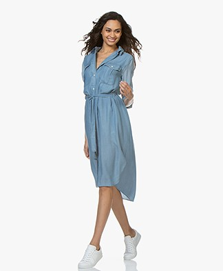 Denham Trek Chambay Shirt Dress - Indigo