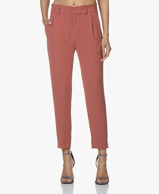 Drykorn Find Tapered Twill Pants - Terracotta Pink