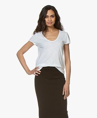 Drykorn Avivi Slub Jersey T-shirt - Wit