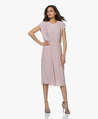 Filippa K Wave Plisse Dress - Frosty Pink