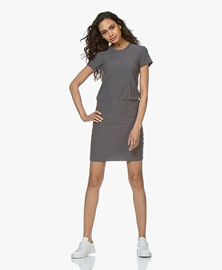 James Perse Jersey T-shirt Dress - Charcoal