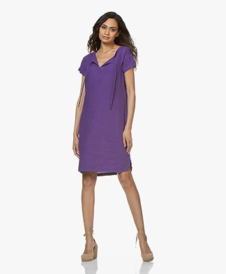 Josephine & Co Carly Linen Tunic Dress - Purple