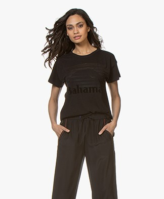 Rag & Bone Bahamas Burnout Print T-shirt - Black