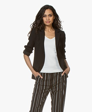 Woman by Earn Ann Flared Sleeve Blazer - Black