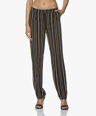 Woman by Earn Marli Fancy Striped Pants - Black/White