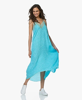 Zadig & Voltaire Risty Long Dress in Velours - Turquoise