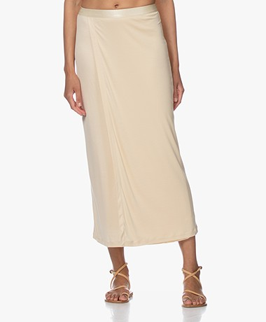 Filippa K Viola Jersey Midi Skirt - Dune Beige