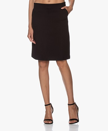 Filippa K Delia Interlock Jersey Skirt - Black