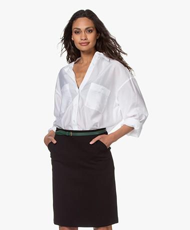 Filippa K Sandie Lyocell Oversized Shirt - Coconut White
