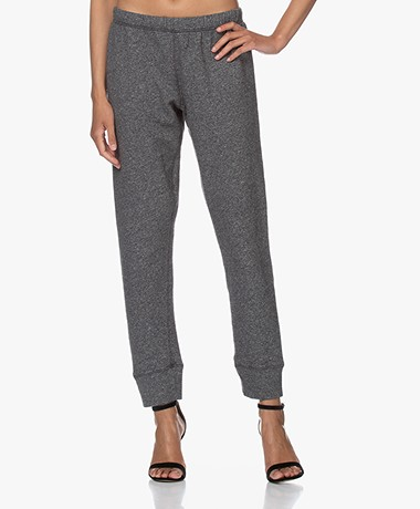 American Vintage Pomitree French Terry Sweatpants - Charcoal Mélange