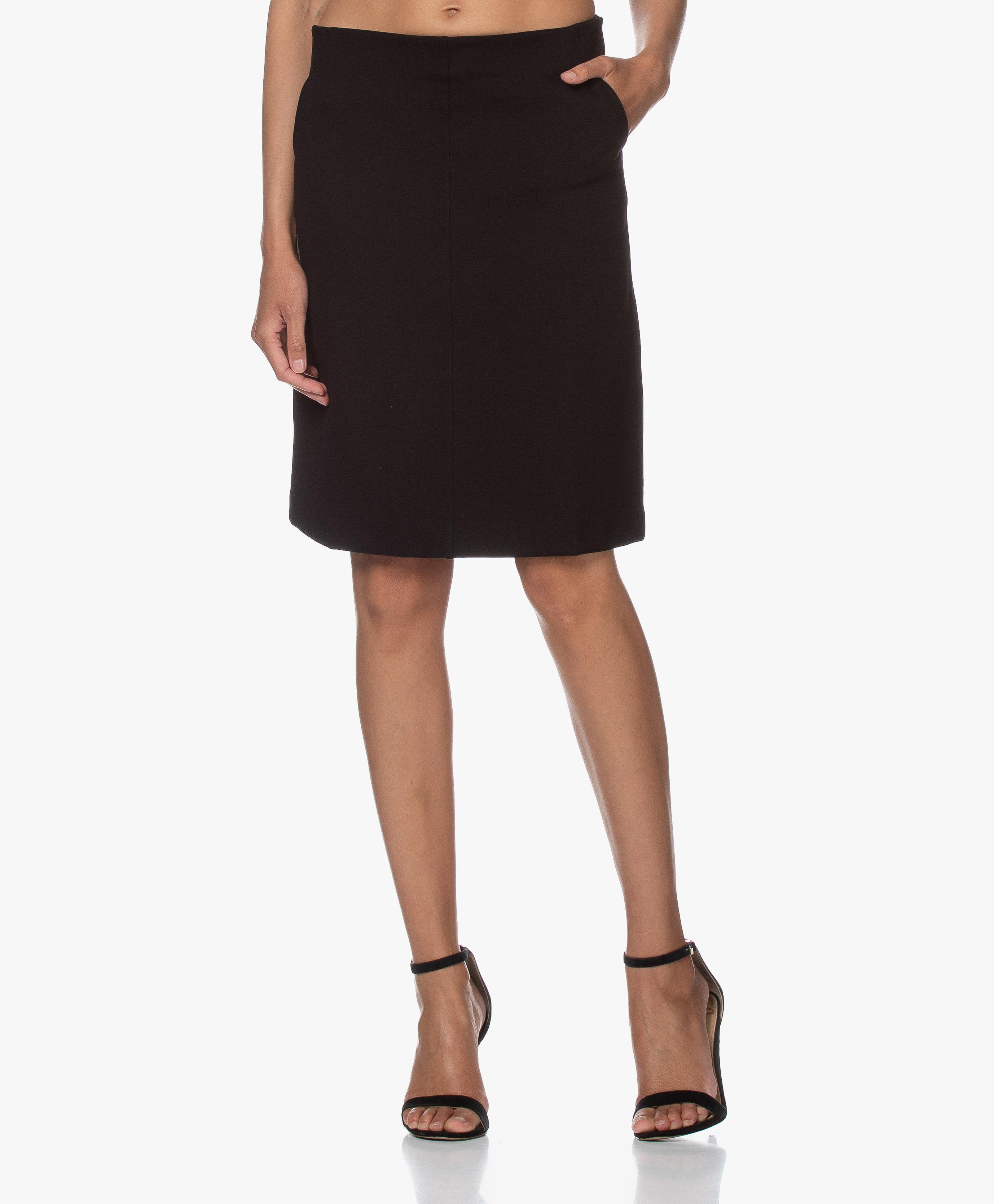 filippa k wrap pocket wool skirt