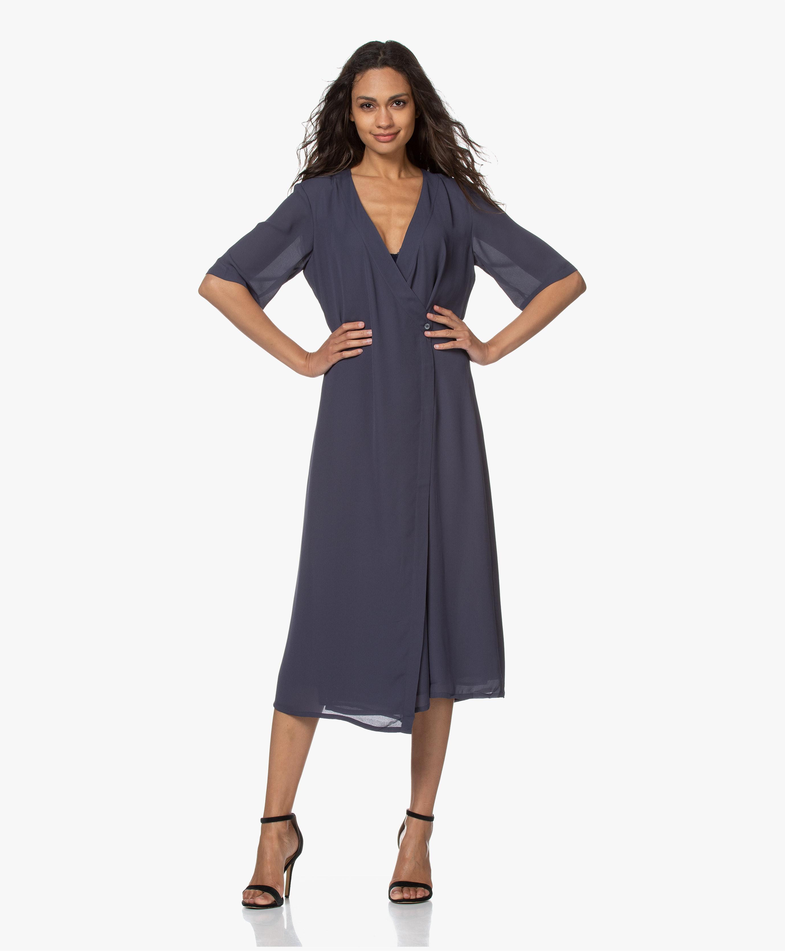 filippa k wrap print dress