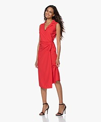 JapanTKY Noemy Travel Jersey Wrap Dress - Japanese Red