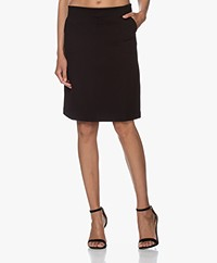 Filippa K Delia Interlock Jersey Skirt - Black