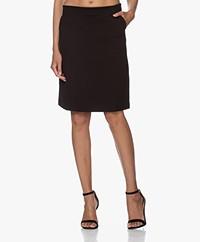 Filippa K Delia Interlock Jersey Rok - Zwart