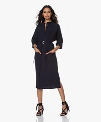 JapanTKY Agda Travel Jersey Shirt Dress - Black Blue